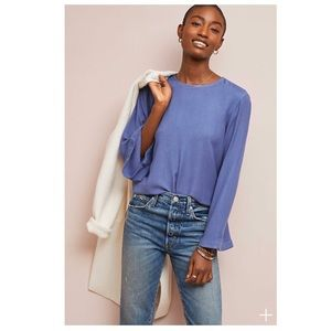 Anthropologie Cloth & Stone Blue Bell Sleeve